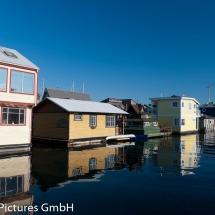 Hausboote im Hafen