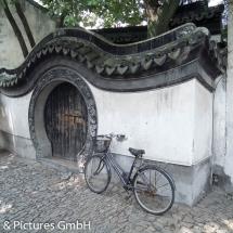 Fahrrad am Mond-Tor