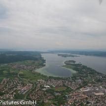 Blick aus Richtung Radolfzell, Mettnau, dahinter Reichenau