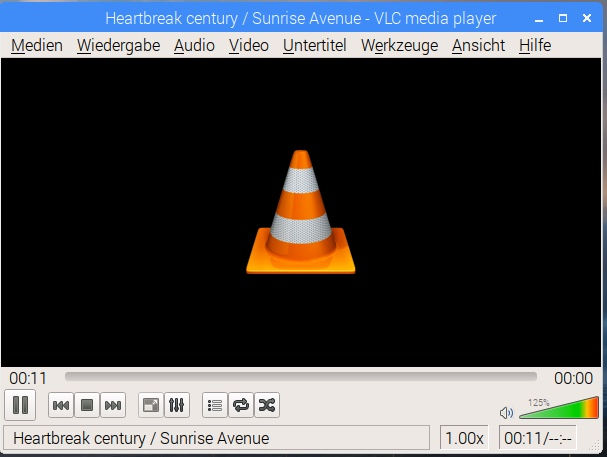 WebRadio, vlc player selbst, graphisches Interface